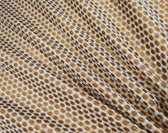 "Polka Dots, Gold Metallic Fabric, Decorative Fabric, Dress Material, Sewing Fabric, 39"" Inch Brocade Fabric By The Yard ZB184H"