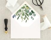 Envelopes for Wedding Invitations - Greenery Wedding Envelopes - Envelopes for Invitations - Lined Envelopes - Eucalyptus Wedding Envelopes