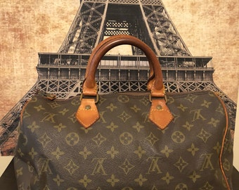 Louis Vuitton Monogram Canvas Speedy 30 Boston Bag Vintage 1980