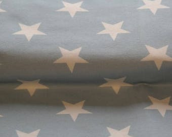 Stars - Blue, Cotton Lycra Jersey Knit Fabric