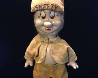 1937 Walt Disney sneezy doll.
