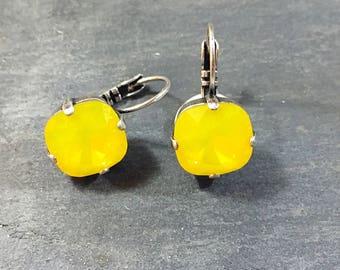 Buttercup Yellow Earrings - Yellow Opal Earrings - Yellow Bridesmaid Earrings - Yellow Wedding Jewelry