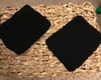 Crocheted Black Boot Cuffs, Boot Cuffs