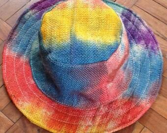 100% THC Free Bohemian Mulitcolor Pure Hemp Sun Hat