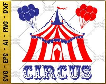 Circus SVG circus clipart SVG circus tent print digital decal circus tent balloons svg cut file  sc 1 st  Etsy & Circus tent | Etsy