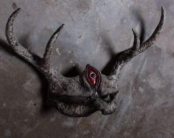 Hand made halloween horror 3rd eye mask
