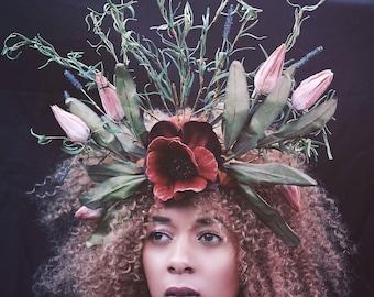 Summer / autumn pagan inspired headdress - nature - wicca