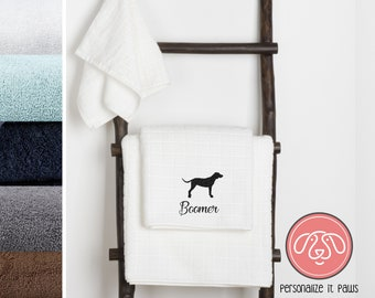 redbone coon hound Embroidered Towel