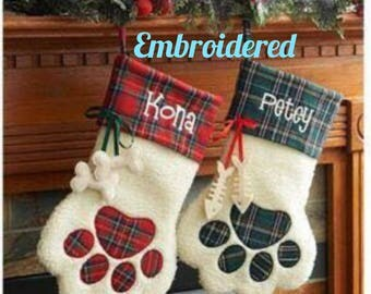 Monogrammed Pet Stocking, Dog Stocking, Cat Stocking, Pet Christmas Stocking, Personalized stocking, Custom pet stocking, Pet Stocking