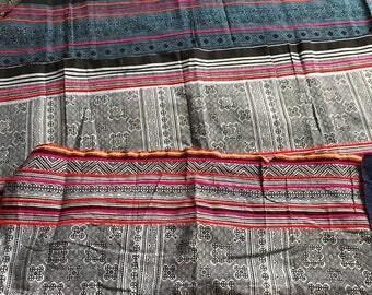 Hmong Indigo Batik Scrap Fabric - 1 Lot
