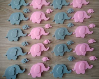 50 big elephant soap favor,baby shower favor,baptism favor,birthday party favor,soap favor,sprinkle party,boy baby shower,girl baby shower