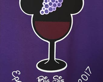 Epcot Food and Wine Shirts Festival Wine Glass Mickey Mouse Disney Inspired Love the Wine You're With Shirt Custom