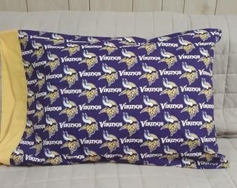 Minnesota Vikings Standard Size Pillow Case