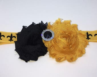New Orleans Saints Headband, Baby Headband, New Orleans Saints Football Headband, New Orleans Saints Hair Accessories