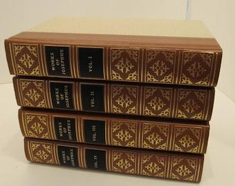 Works of Josephus Vol I - Vol IV leather bound set c. 1988
