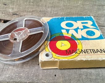 Vintage German Magnetband, TYP 12ORWO Reel Magnetic Band  10,  Magnetband 130 m  from 1970 s, Triple Play Tape, Tape Recorder