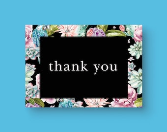 Printable Thank you card, flyer