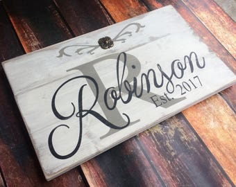 Family/Established Wood Sign; Rustic Wood Sign