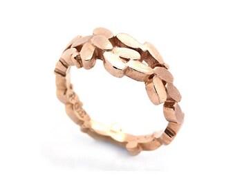 9ct rose gold laurel ring