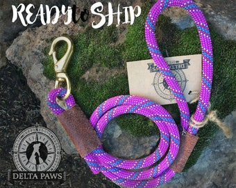 READY to SHIP! 4FT Shasta Leash || Rock Climbing Rope Dog Leash || Handmade in the USA