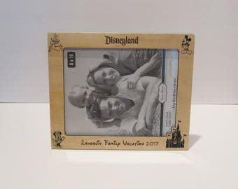 Disneyland 5x7 or 8x10 (Your Choice) Picture Frame Personalized Family Frame Family Name Frame Disney Trip Frame