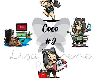COCO Planner Stickers | SHOP EXCLUSIVE | Exercise, Grocery Shopping, Target shopping, Netflix & Chill }CQ43ABCD