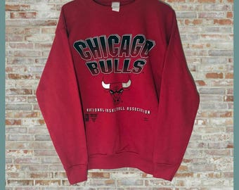 Vintage NBA Chicago Bulls Crewneck Sweatshirt Red Small