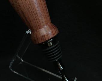 Titanium & black bottle stopper made with bubinga wood