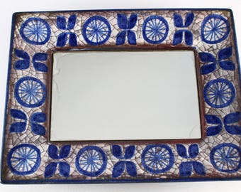 Marianne Starck by Michael Andersen and son - beautyful ceramic mirror in persia.