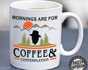 Mornings Are For Coffee and Contemplation Mug, Stranger Things, Jim Hopper, Coworker Coffee Cup, Hawkins Police, Coffee - Tea Mug ©