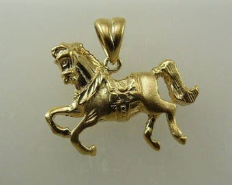 Horse Pendant 14k Yellow Gold