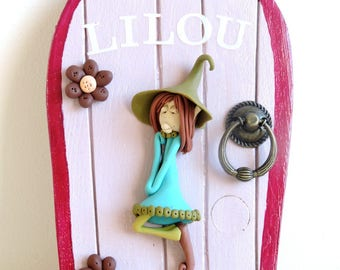 Personalized door Lilou. invite fairies to enter your home!
