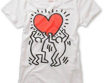 T-shirt Keith Haring-handpainted T-shirt