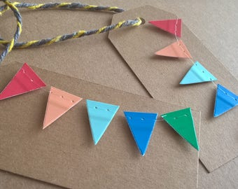 5 pack Bunting gift tags