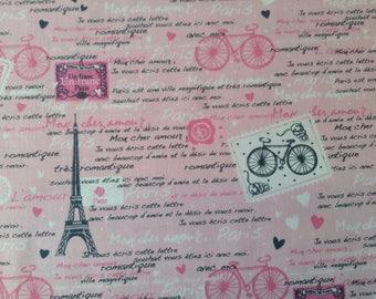 Pink Paris Eiffel Tower Fabric