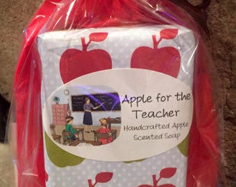 Caramel Apple Scented Soap, Apple Caramel Scented Soap, Teacher gift, Teacher Soap, Vegan Soap, Apple Soap, Autumn Soap, Teacher Gifts, Fall