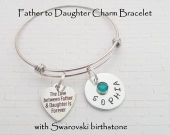 Gift for Daughter, Father to Daughter Valentine Gift, Dad Gift to Daughter, Daughter Jewelry, Personalized Gift for Girl, Girl Gift from Dad