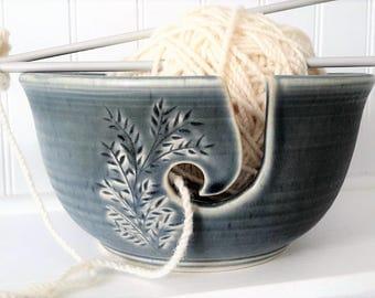 Ceramic Yarn Bowl, whimsical crochet bowl,  pottery wool bowl, ceramic knitter's bowl, knitting and crochet accessory, gift for knitters