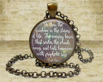 Be thou the rainbow Lord Byron Quote necklace Poetry Necklace Poetry Jewelry Lord Byron Literary Gift Literature Necklace