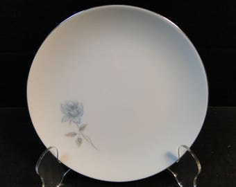 "Noritake Simone Salad Plate 6407 White Blue Rose 8 1/4"" EXCELLENT!"
