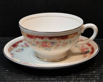 Homer Laughlin Eggshell Georgian Belmont Tea Cup Saucer Set EXCELLENT