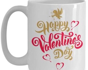Cupid Happy Valentine's Day Ceramic Coffee Mug