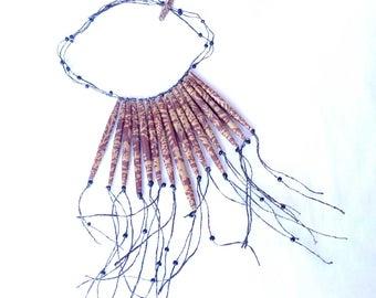 Necklace tubular beads