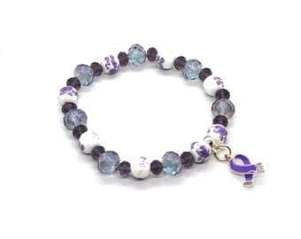 Fibromyalgia Awareness - Fibromyalgia Bracelet - Fibromyalgia Jewelry - Fibro Awareness Bracelet - Fibro Bracelet - Fibro Awareness - Fibro