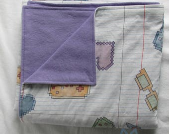 Pixel style gaming doodle snuggle blanket