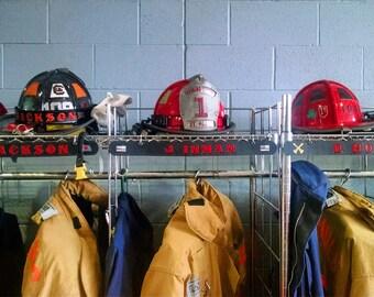 Firefighter locker name tags