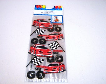 25 Ct. Racing Treat Bags, Racing Goody Bags, Racing Party Favors, Nascar Racing Treat Bag, Racing Party Favors, Racing Party Supplies