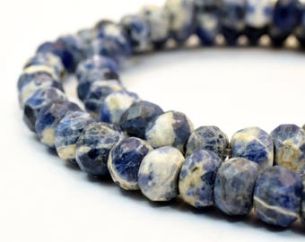 8x6mm Natural Sodalite Blue Spot Stone Beads Genuine Rocks natural healing stone chakra stones for Jewelry Making