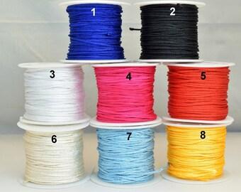 1.5mm Knot Nylon Cord Shamballa Macrame Beading Kumihimo String 30 Meters Cord Knot Shamballa Macrame Bead Beading Size 1.5mm Thread Cord