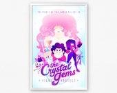 The Crystal Gems, Rose Quartz, Garnet, Peridot, Amethyst & Pearl, Steven Universe Theme Song Lyric Poster